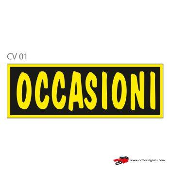 """Cartelli """"OCCASIONI"""" CV 01"""