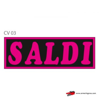 "Cartelli ""SALDI"" CV 03"