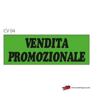 "Cartelli ""VENDITA PROMOZIONALE"" CV 04"