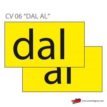 "Cartelli ""DAL AL"" CV 06"
