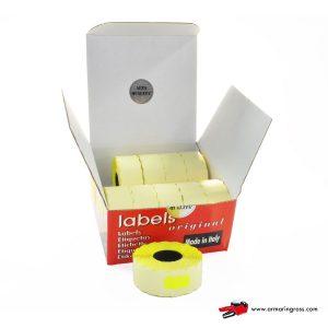 Anteprima scatola contenente 10 rotoli di etichette alta qualità aperta