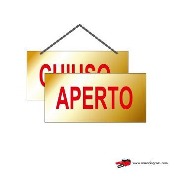 Cartelli Aperto-Chiuso OR 701/O | Cartellino Aperto/Chiuso