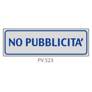 Indicatore Adesivo PV 523 | No Pubblicità