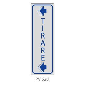 Indicatore Adesivo PV 528 | Tirare con Freccia