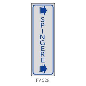 Indicatore Adesivo PV 529 | Spingere con Freccia