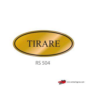 Etichetta Resinata RS 504 | Tirare