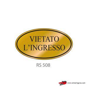 Etichetta Resinata RS 508 | Vietato l'ingresso