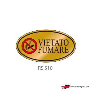Etichetta Resinata RS 510 | Vietato Fumare