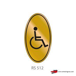 Etichetta Resinata RS 512 | Toilette Disabili