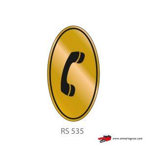 Etichetta Resinata RS 535 | Telefono