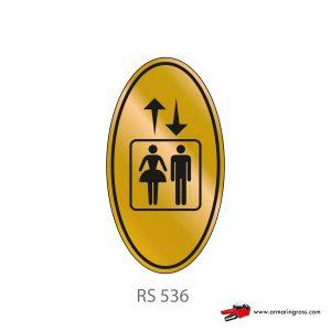 Etichetta Resinata RS 536 | Ascensore