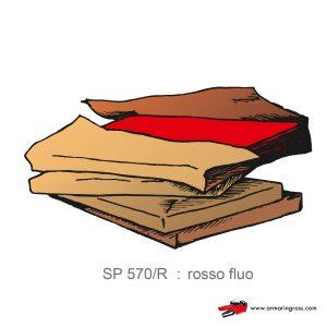 Risma Carta Colorata rosso fluo