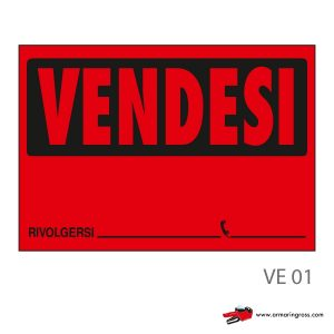 Cartello Vendesi VE 01