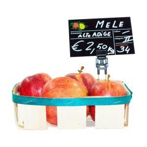 Segnaprezzi Neri Frutta e Verdura con Spillo Doppio