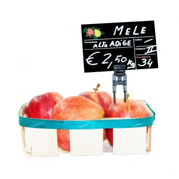Segnaprezzi Neri Frutta e Verdura con Spillo Doppio PVC
