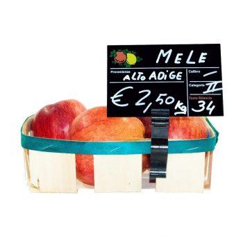Segnaprezzi Neri Frutta e Verdura con Tenaglia