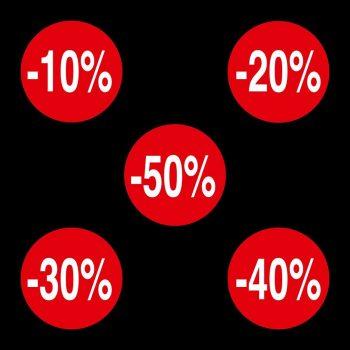 Rotoli Etichette Bollino 35 Sconto alla Cassa