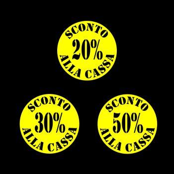Rotoli Etichette Bollino 40 Sconto alla Cassa