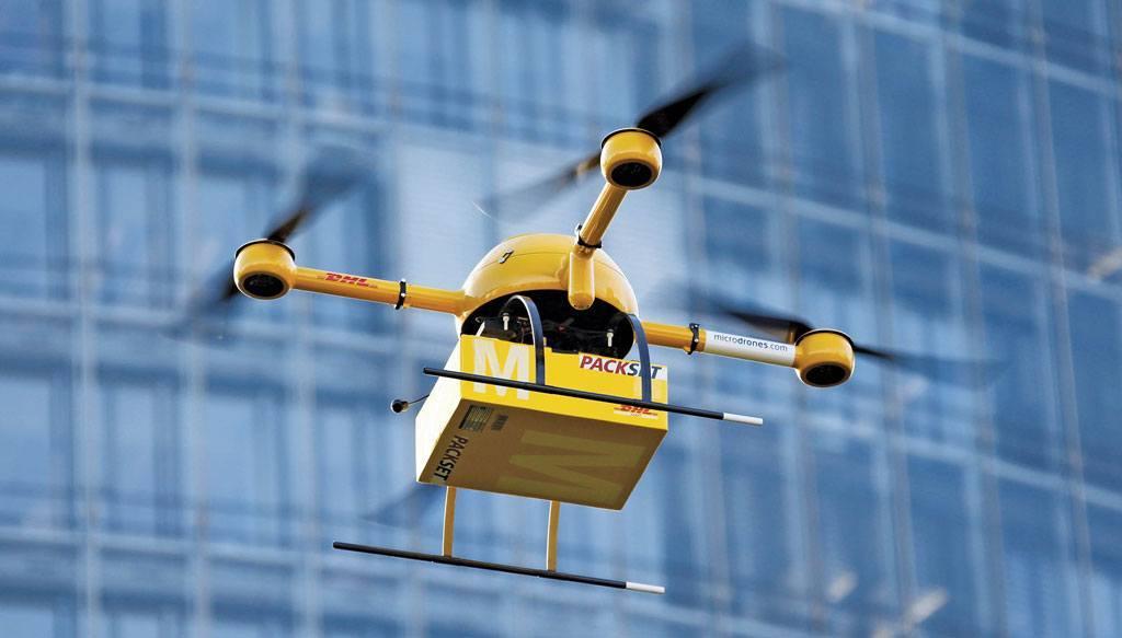 Droni davanti la porta di casa