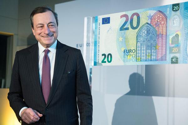 Mario Draghi 20 Euro