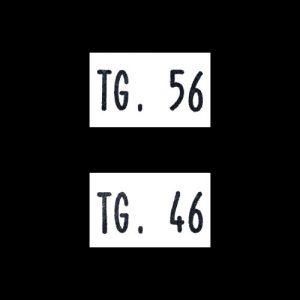 Etichette Taglia