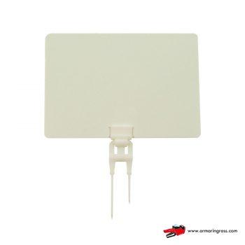 Lavagnette Bianche con Spillo Doppio PVC
