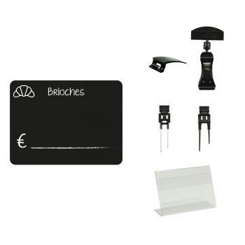 Lavagnette Nere PVC Brioches con Accessorio | Lavagnette riscrivibili