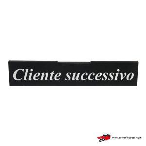 Barra Cliente Successivo | Barra informativa per i clienti alla cassa