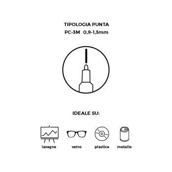 Pennarello Uniposca con punta da 3 mm cancellabile con Alcol puro