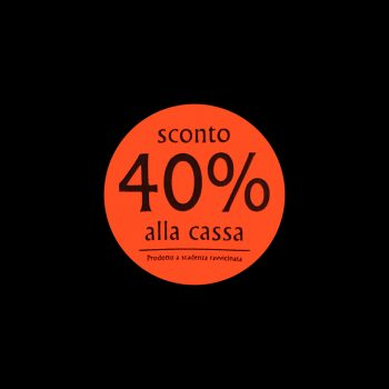 Rotoli Etichette Bollino Rosso Sconto alla Cassa
