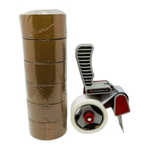 Kit Tendinastro + 6 Rotoli Nastro Adesivo da Imballo