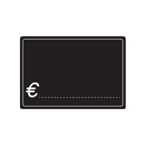 Lavagnette Nere PVC simbolo €