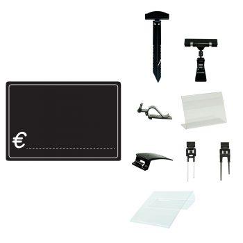 Lavagnette Nere PVC simbolo € con Accessorio
