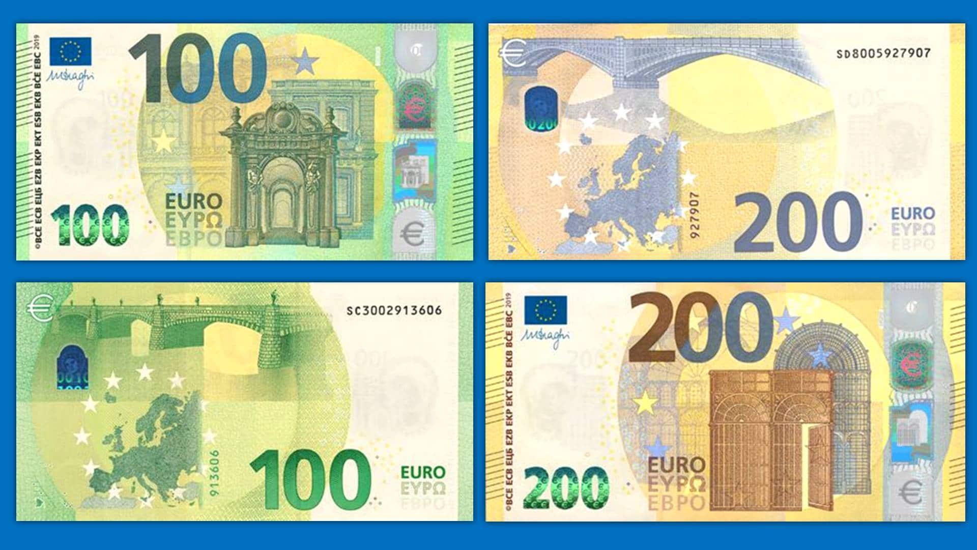 fadfd75776 Nuova banconote da 100 e 200 euro - Le caratteristiche per riconoscerle