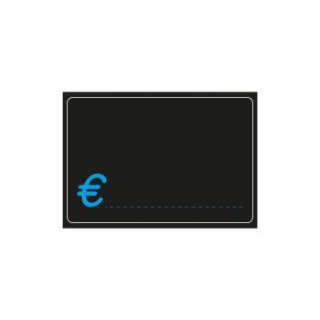 Segnaprezzi Neri Simbolo Euro