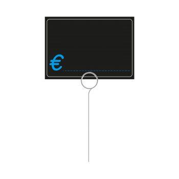 Segnaprezzi Neri Simbolo Euro con Spillone Acciaio