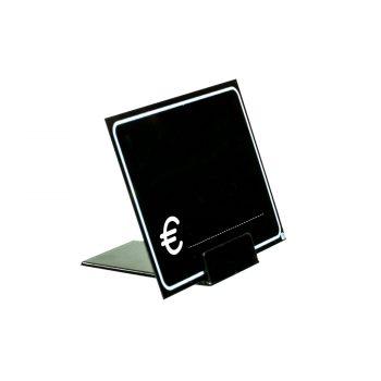 Segnaprezzi Neri Simbolo Euro con Base