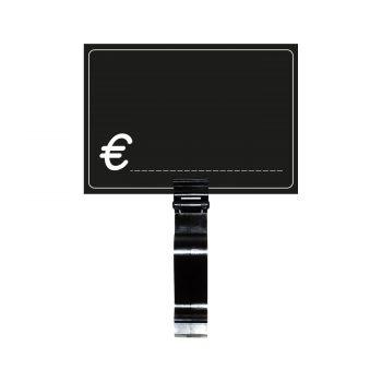 Segnaprezzi Neri Simbolo Euro con Tenaglia
