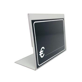 Segnaprezzi Neri Simbolo Euro con Vetrinetta
