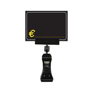 Segnaprezzi Neri Simbolo Euro con Pinza Nera con Base