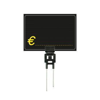 Segnaprezzi Neri Simbolo Euro con Spillo Doppio Acciaio