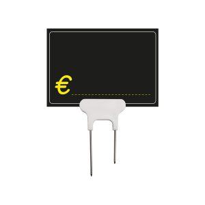 Segnaprezzi Neri Simbolo Euro con Spillo ET Doppio Acciaio